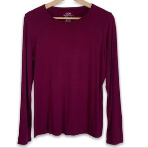 Lord and Taylor Iconic Fit Top in Raspberry